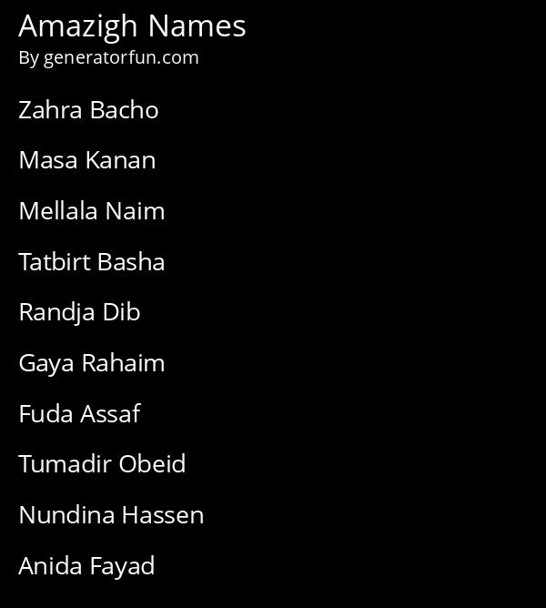 Amazigh Names