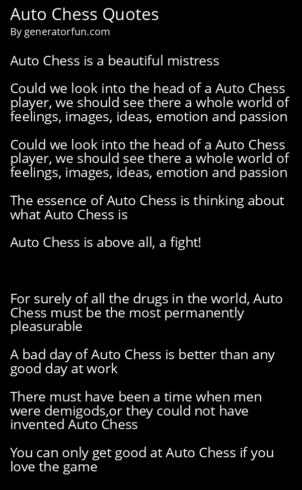 Auto Chess Quotes