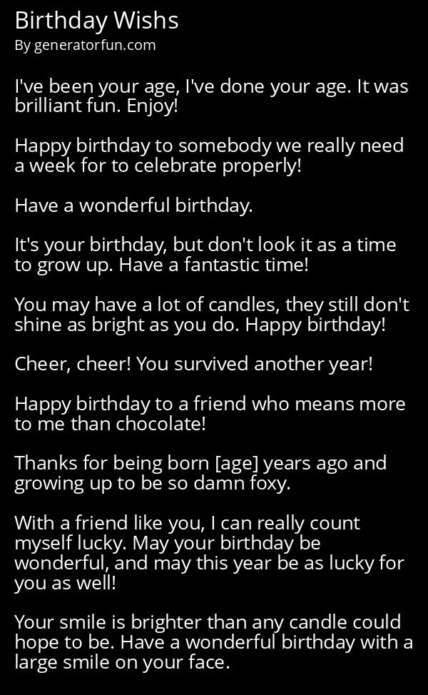 Birthday Wishs