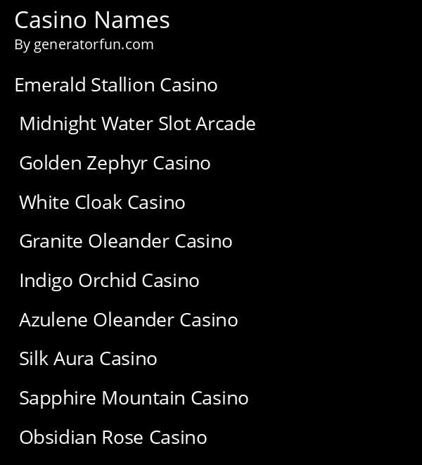 Casino Names