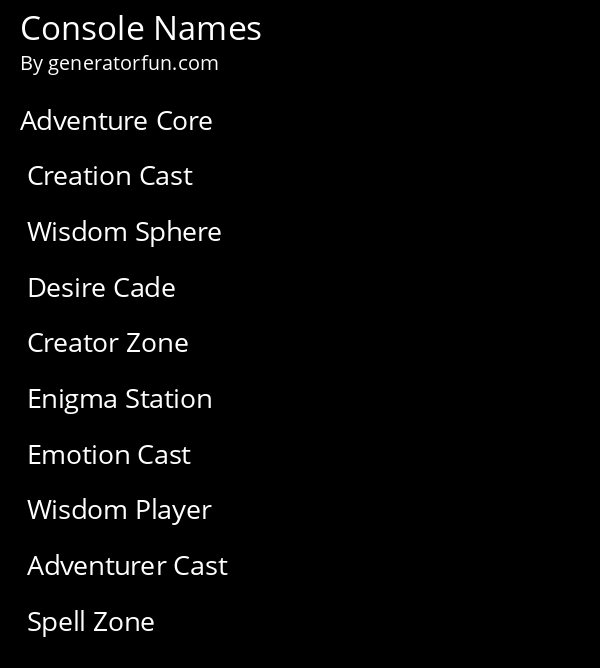 Console Names