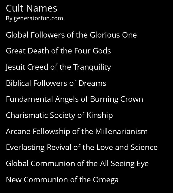 Cult Names