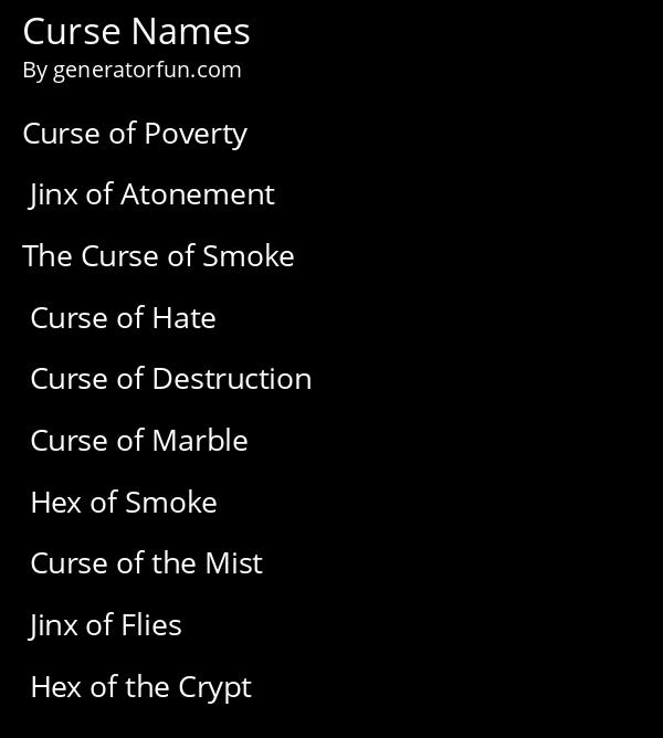 Curse Names