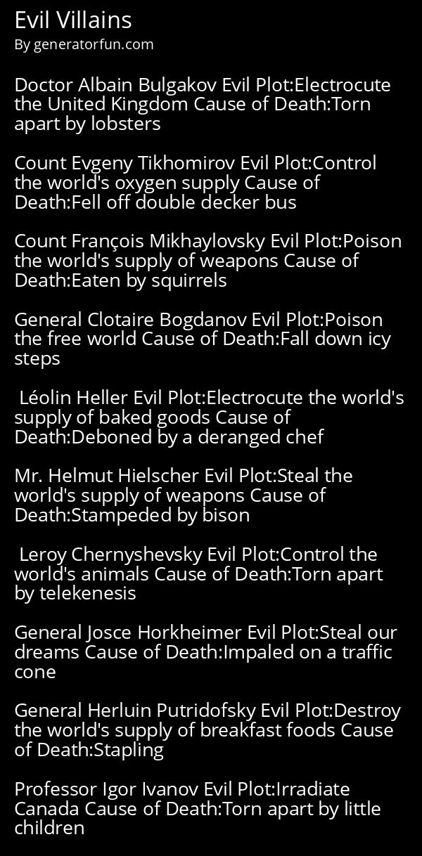 Evil Villains
