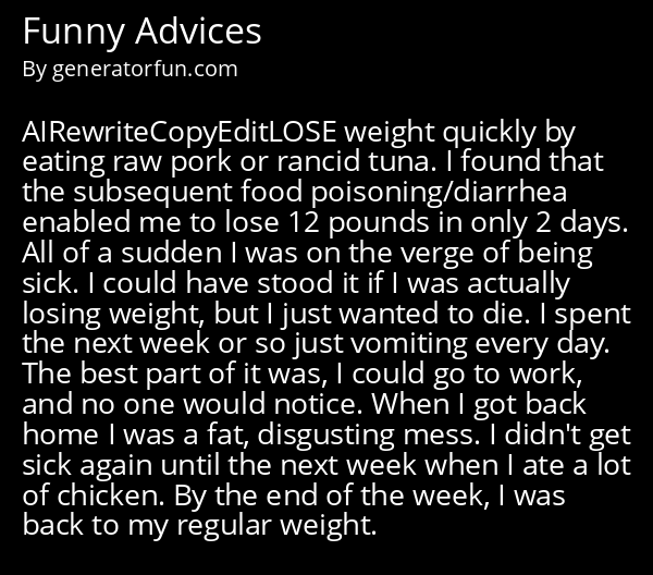 Funny Advices