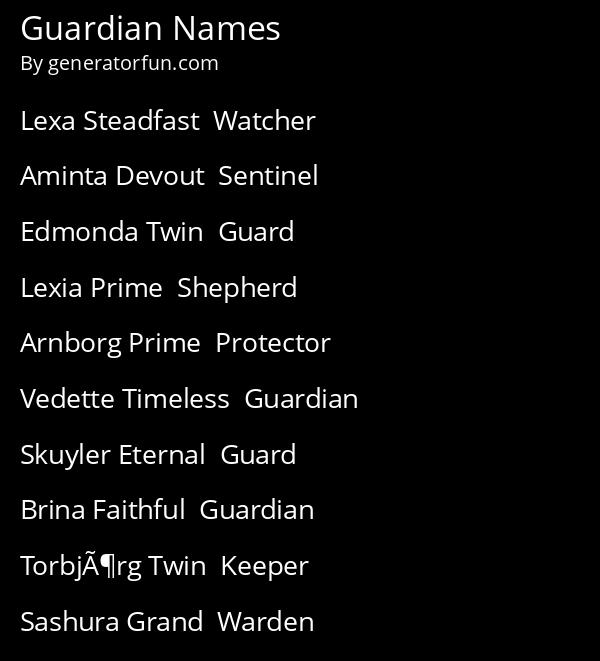 Guardian Names