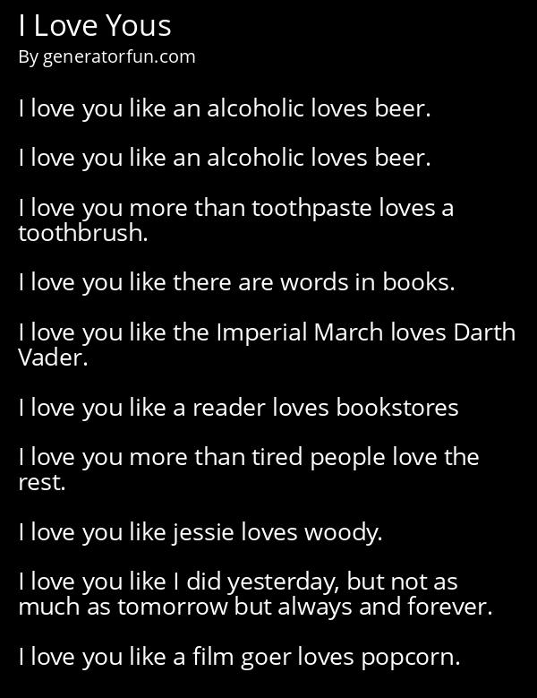 I Love Yous