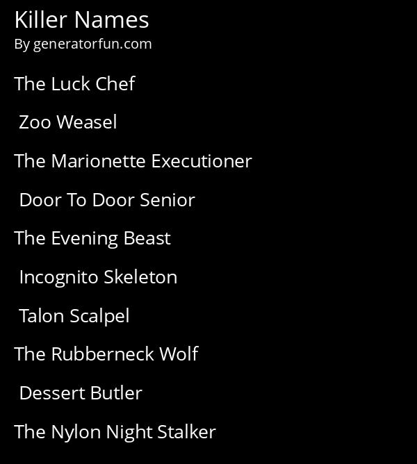 Killer Names
