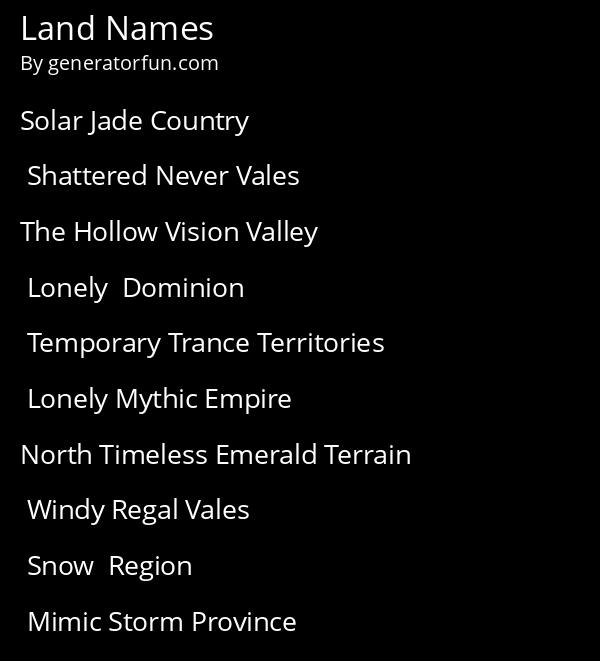 Realm Names