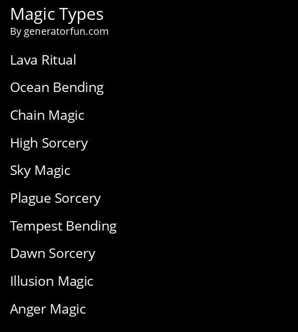 Magic Types