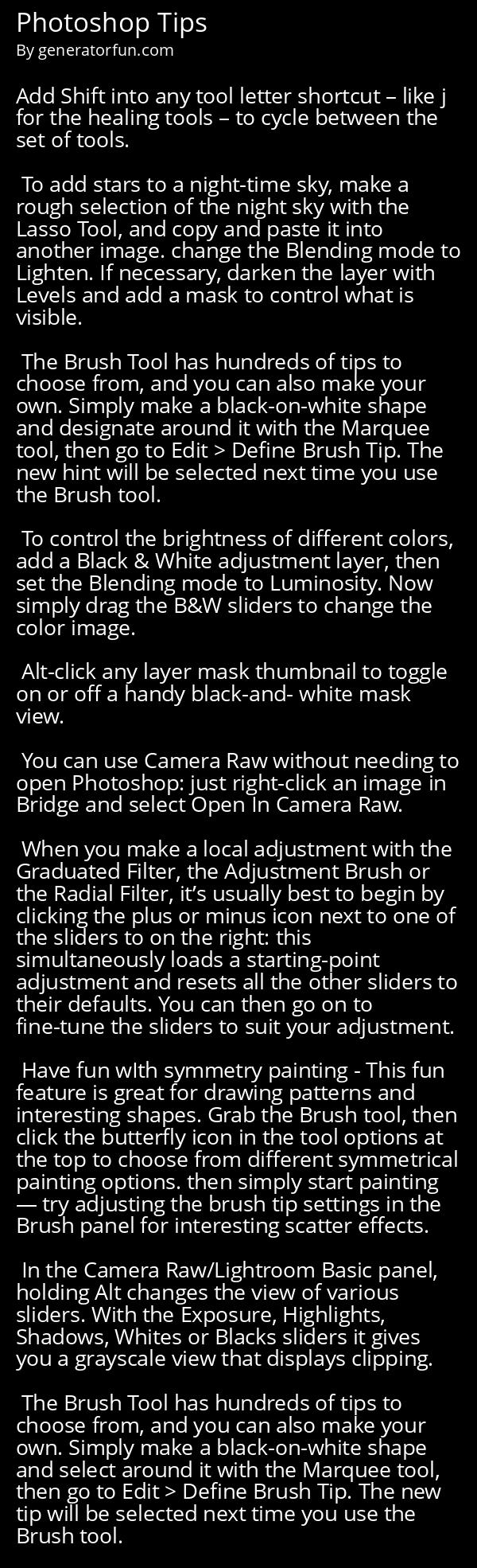 Photoshop Tips