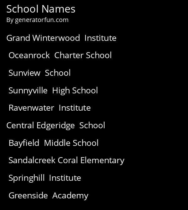 School Names