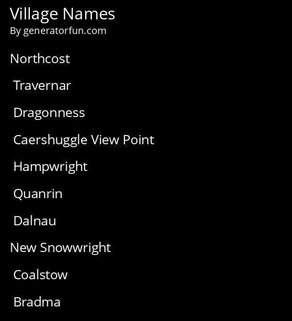 Town Names